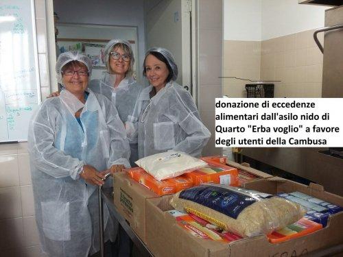 Donazioni da parte dell'asilo nido Erba Voglio