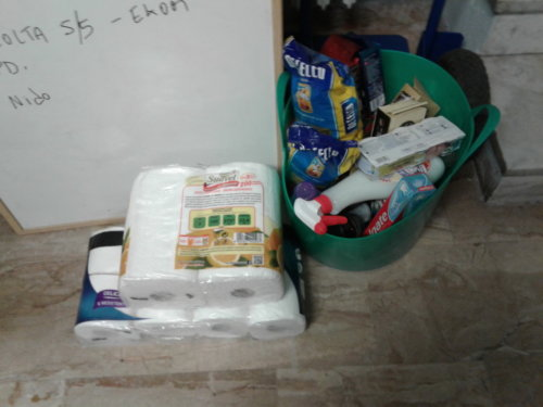 Prodotti donati dai partecipanti all'incontro